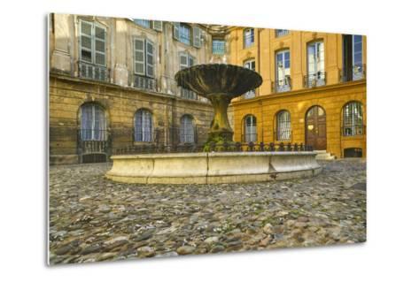 Fountain in Place D'albertas-Jon Hicks-Metal Print