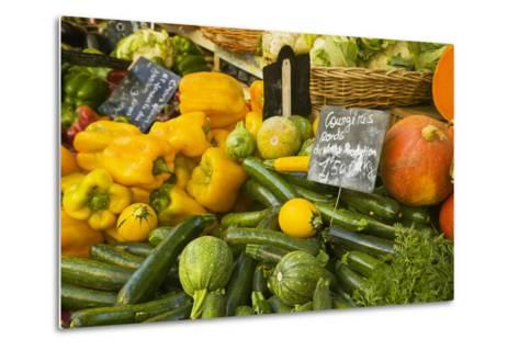 Produce Stand in Aix-En-Provence-Jon Hicks-Metal Print