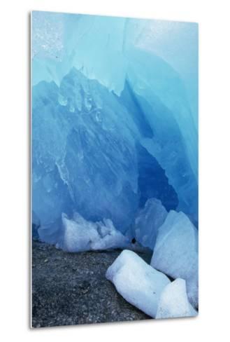 Blue Glacial Ice of Nigardsbreen Glacier, Norway-Paul Souders-Metal Print
