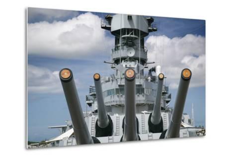 Gun Turret on the Battleship Missouri-Jon Hicks-Metal Print