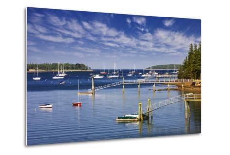 Yachts Moored near Southwest Harbor-Jon Hicks-Metal Print