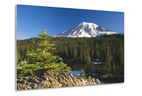 Snow-Capped Mountain; Washington,USA-Design Pics Inc-Metal Print