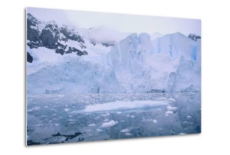 Icebergs Reflected in the Sea-DLILLC-Metal Print