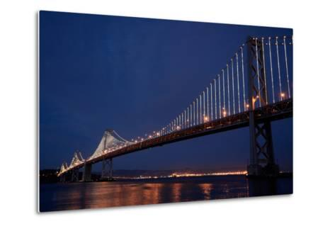 The Bay Lights Iconic Light Sculpture by Artist Leo Villareal on the San Francisco Bay Bridge-James Sugar-Metal Print