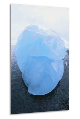 Iceberg Washed Ashore-DLILLC-Metal Print
