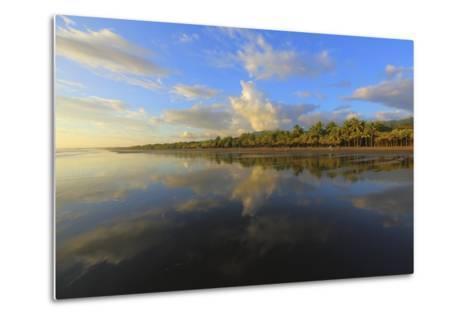 Low Tide Sunset on Playa Linda near Dominical-Stefano Amantini-Metal Print