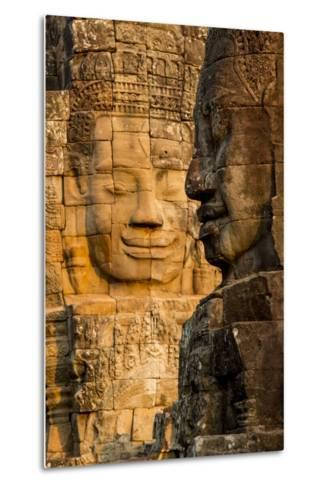 Bayon Temple, Angkor Wat, Siem Reap, Cambodia-Paul Souders-Metal Print