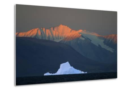Iceberg in Front of Mountains-DLILLC-Metal Print
