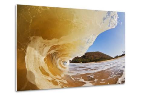 Hawaii, Maui, Makena, Beautiful Wave Breaking at the Beach-Design Pics Inc-Metal Print