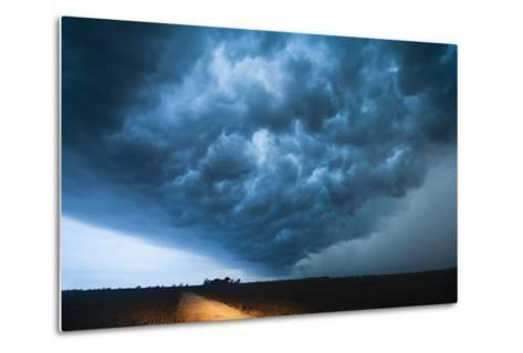 A Picturesque Supercell Thunderstorm at Twilight-Jim Reed-Metal Print