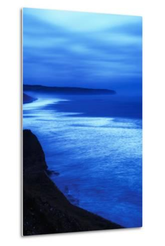 Sea at Dusk, Whitby,North Yorkshire,Uk-Design Pics Inc-Metal Print