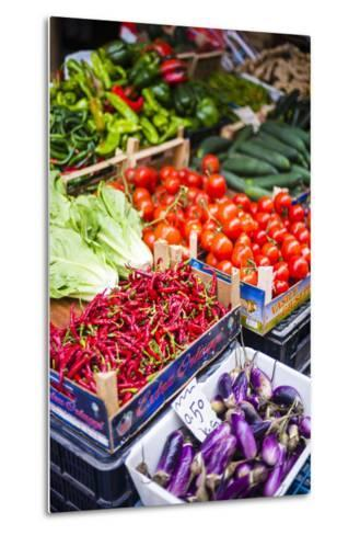 Chillies and Tomatoes for Sale at Capo Market-Matthew Williams-Ellis-Metal Print