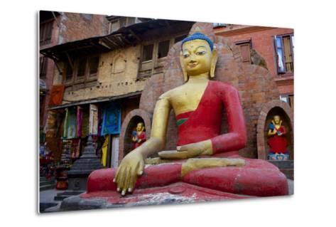 Buddha Statue-Simon Montgomery-Metal Print