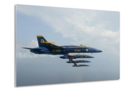 F-A-18 Hornets from the U.S. Navy Blue Angels Team--Metal Print