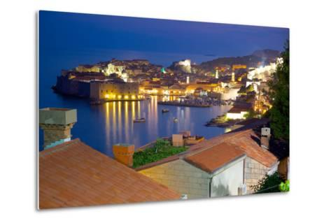 Old Town, UNESCO World Heritage Site, at Dusk, Dubrovnik, Dalmatia, Croatia, Europe-Frank Fell-Metal Print