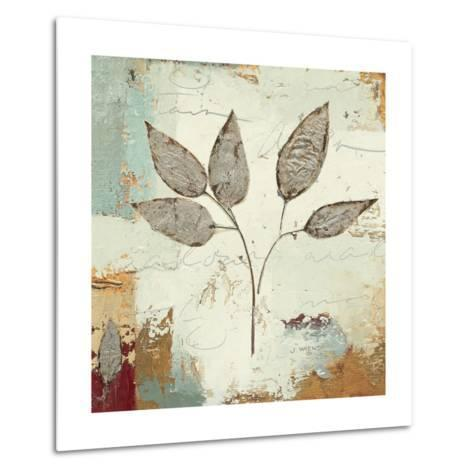Silver Leaves III-James Wiens-Metal Print