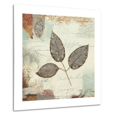 Silver Leaves II-James Wiens-Metal Print