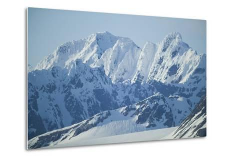 Snow Covered Peaks-DLILLC-Metal Print