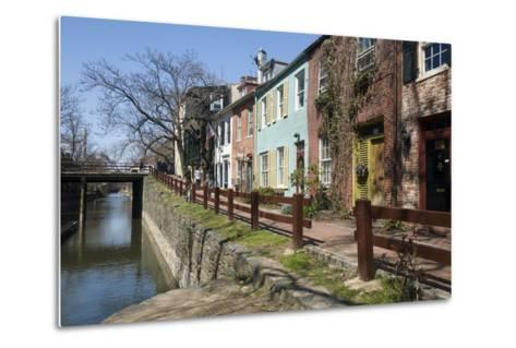 Old Houses Along the C and O Canal-John Woodworth-Metal Print