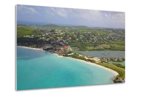 View of Dickinson Bay and Beach, Antigua, Leeward Islands, West Indies, Caribbean, Central America-Frank Fell-Metal Print