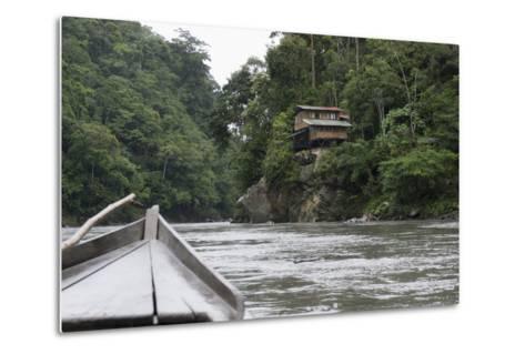 On the Madre De Dios River, Peru, South America-Peter Groenendijk-Metal Print