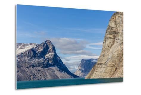 Snow-Capped Peaks and Glaciers in Icy Arm, Baffin Island, Nunavut, Canada, North America-Michael Nolan-Metal Print