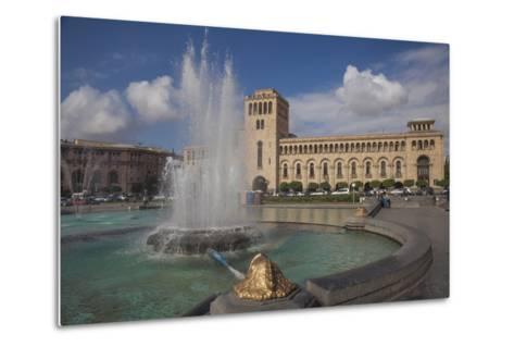 Republic Square, Yerevan, Armenia, Central Asia, Asia-Jane Sweeney-Metal Print