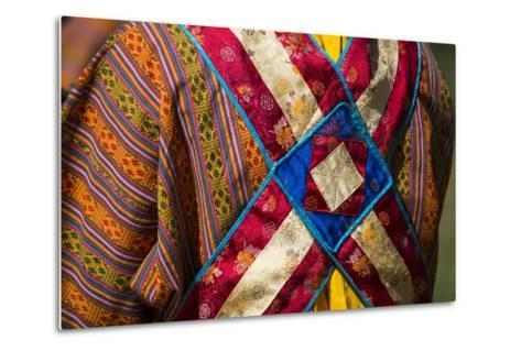 Detail of a Traditional Robe as Seen from the Rear-Michael Melford-Metal Print