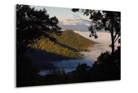 Clouds Fill the Valley Below in the Morning-Amy White and Al Petteway-Metal Print