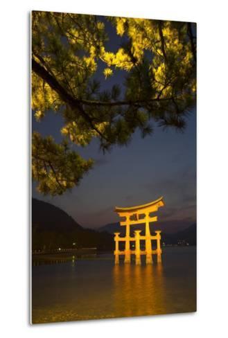 The 'Floating' Torii Gate of the Itsukushima Shinto Shrine, Illuminated at High Tide-Macduff Everton-Metal Print