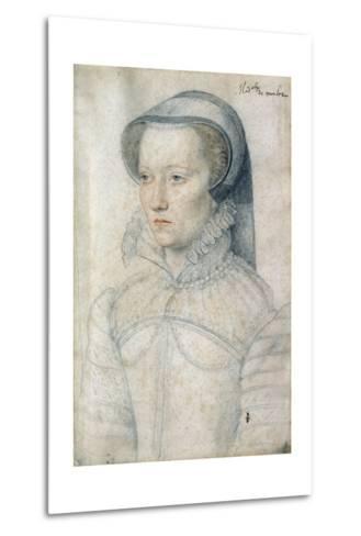 Portrait of Diane De Clermont, Demoiselle Montlaur - by Francois Clouet--Metal Print