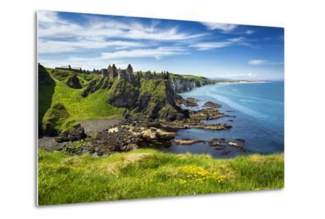 Dunluce Castle on the North Coast of Northern Ireland-Chris Hill-Metal Print