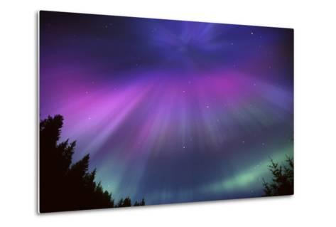 Aurora Corona over Crow Creek Sc Alaska Winter-Design Pics Inc-Metal Print