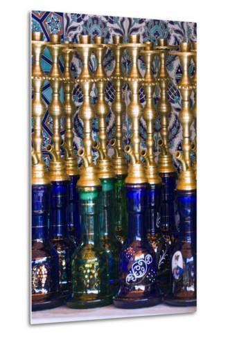 Istanbul, Turkey; Nargileh Water Pipes for Sale-Design Pics Inc-Metal Print