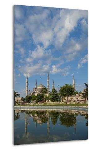 Looking across Pond to Sultanahmet or Blue Mosque-Design Pics Inc-Metal Print