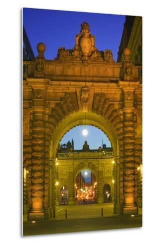 Riksdagshuset Arches in Gamla Stan-Jon Hicks-Metal Print