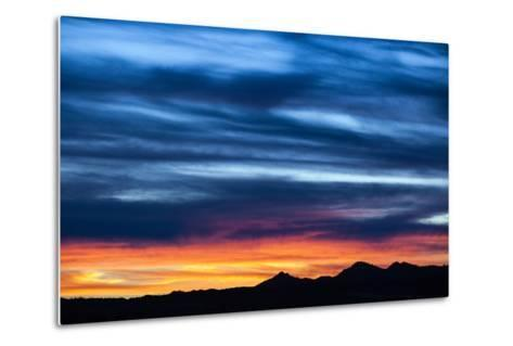 Spectacular Sunset and Stormy Sky-Jim Reed-Metal Print