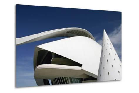 Palau De Les Arts Reina Sofia Building by Santiago Calatrava-Design Pics Inc-Metal Print