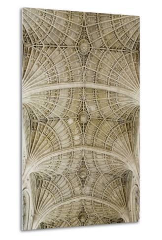 Ceiling of King's College Chapel-Design Pics Inc-Metal Print