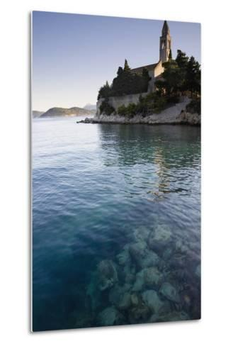 View across Water at a Monastery on the Island of Lopud-Design Pics Inc-Metal Print