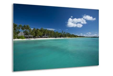 A Beach at a Resort in the Maldive Islands-Michael Melford-Metal Print