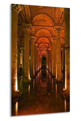 Basilica Cistern, Istanbul, Turkey; Ancient Underground Cistern-Design Pics Inc-Metal Print
