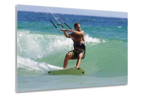 Man Kite Surfing; Costa De La Luz,Andalusia,Spain-Design Pics Inc-Metal Print