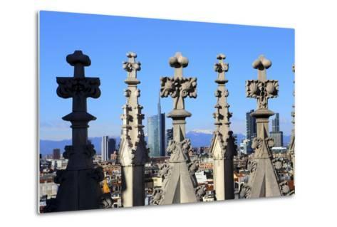 Milano New Skyline (Porta Nuova District) View from the Duomo.-Stefano Amantini-Metal Print