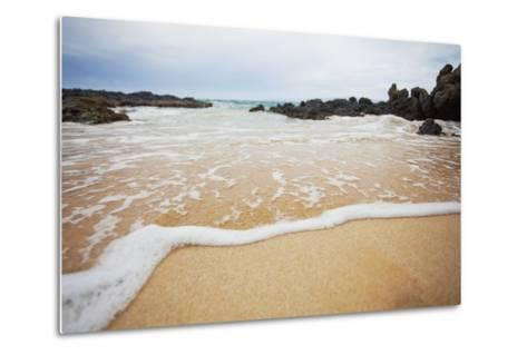 Hawaii, Maui, Makena, a Closeup of the Ocean over Sand-Design Pics Inc-Metal Print