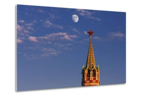 Moon Rise over the Saviour Gate Tower.-Jon Hicks-Metal Print