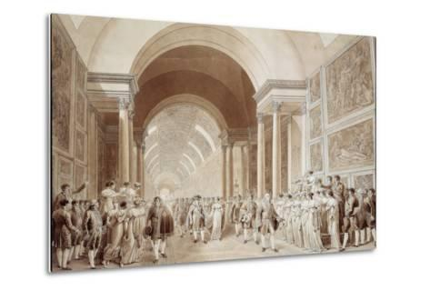 View of the Wedding Procession of Napoleon and Marie Louise--Metal Print