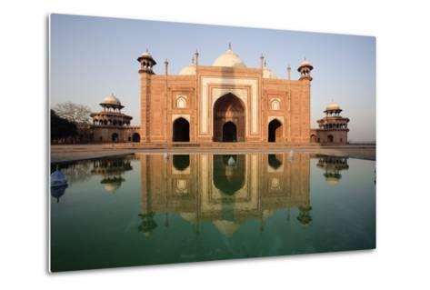 Agra, India; Exterior of the Taj Mahal-Design Pics Inc-Metal Print