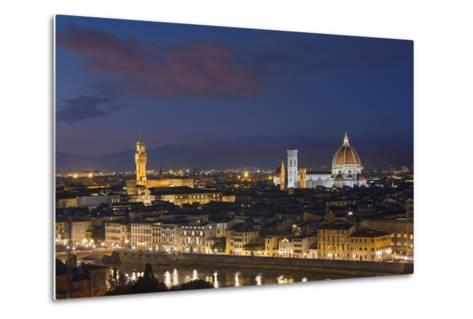 Florence Skyline at Sunset.-Jon Hicks-Metal Print