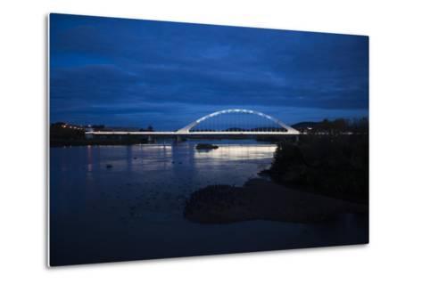 The Lusitania Bridge at Night over the Guadiana River-Macduff Everton-Metal Print
